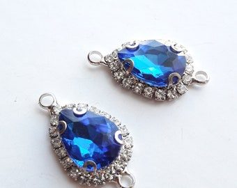 Drop shape rhinestone Royal Blue drop crystal blue swarovski/crystal Cabochon for jewelry making Blue