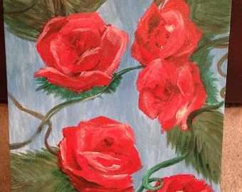 Roses Acrylic Painting on Canvas