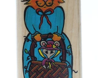 Inkadinkado Cat and Mouse Friends Duo Wooden Rubber Stamp