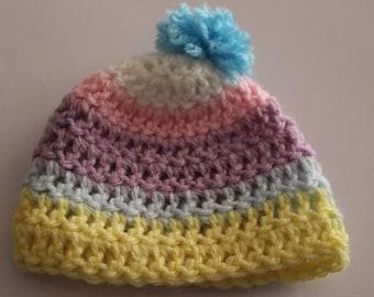 Rainbow Soft Preemie Hat Cap Beanie