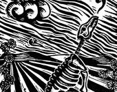 Singing coyote skeleton -...