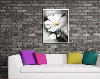 Home decor painting . jpg printable digital poster instant download . flower . decoration Computer Graphics