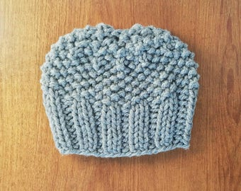 Ready to Ship Knit Bun Beanie