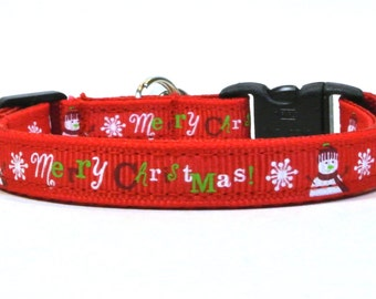 Merry Christmas Breakaway Cat Collar