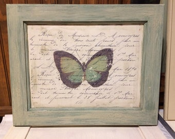 Butterfly French Script Wall decor
