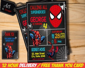 Spiderman invitation etsy spiderman invitation spiderman birthday invitation spiderman spiderman party spiderman card spiderman invite party digital filmwisefo