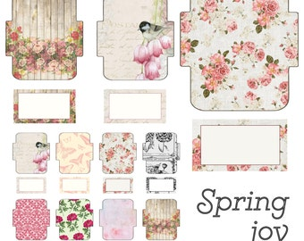 44 Mini Envelopes and Cards Digital Print