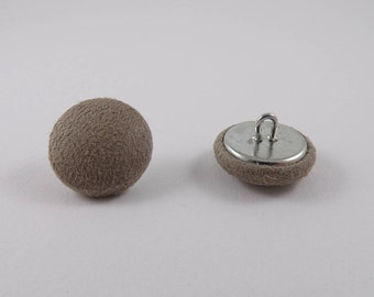 6 buttons covered with suede Brown 21mm