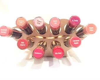 Lipstick Holder, Lipstick case, Lipstick organizer, Lipstick display, Rose gold, Vanity decor