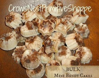 Natural Soy Mini BUNDT Melting Tarts- BULK Melting bundt shaped tarts scented your choice topped with spice,  fragrant wax melts