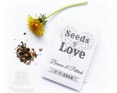 Printable Wedding Favor Seed Envelope Template - DIY Editable PDF Digital File - Instant Download