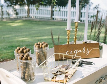 Wedding cigar sign | Etsy