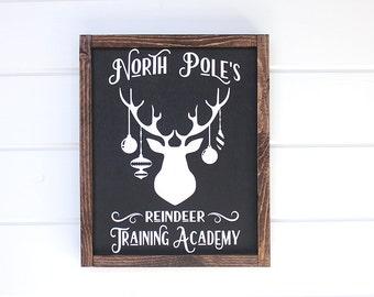 """Christmas Deer. Rustic Holiday Signs. Christmas Signs. Rustic Christmas Decor. Christmas Decorations. Wood Christmas Signs. 12"""" x 16"""""""