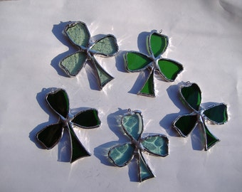 shamrocks, stained glass suncatcher