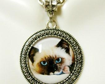 Ragamuffin cat pendant with chain - CAP05-170