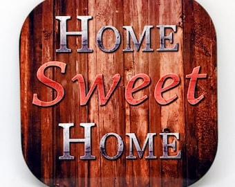 "Custom Made Drink Coasters ""Home Sweet Home"" 4Pack"