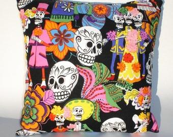 Day of the Dead -Dia De Los Muertos throw Pillow rockabilly