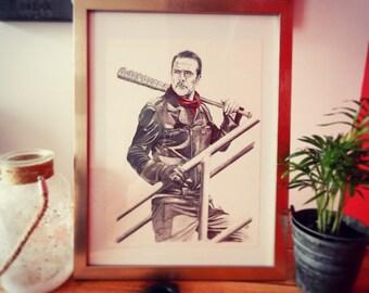 Fine art print A4 Negan - The Walking Dead