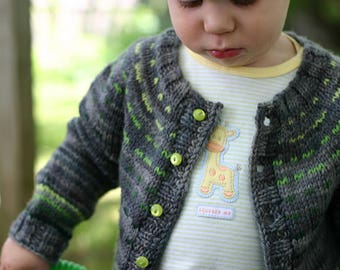 "Toddler Baby Sweater, Hand Knit, Toddler Clothes, ""Array"""