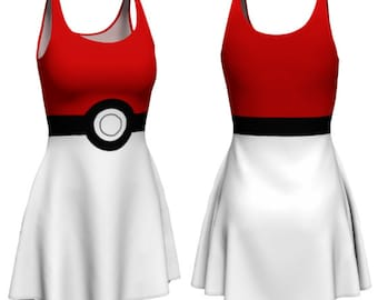 Catchem Dress (pokeball, pokemon go inspired)