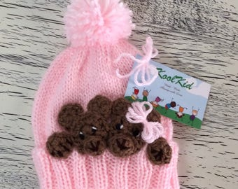 """Handmade """"Teddy Bear"""" Hat - Such a Very Special Gift!"""