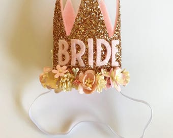 Bride to be Crown | Bachelorette Headband | Rose Gold Bride To Be Crown | Hens Headband | Rose Gold Cown