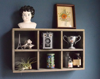 Rustic Reclaimed Wood Mail sorter, vintage cubby, storage box, wooden display shelf, cedar crate, industrial shelf