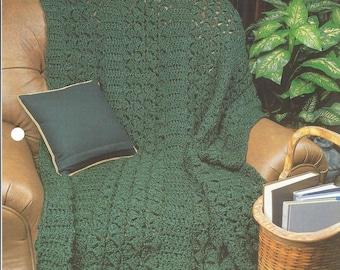 Homespun Afghan Crochet Pattern, Annie's Crochet Quilt & Afghan, Crochet Quilt, Blanket, Bedspread, Home Decor, Bedding, Couch Throw