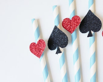 Alice in Wonderland Straws