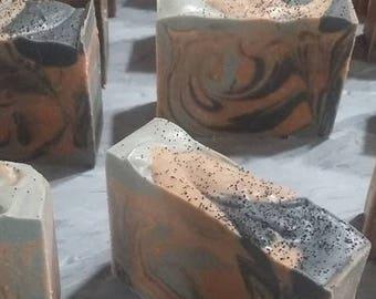 Black Amber & Musk Handmade Goats Milk Soap!! Enchanting Blend of Black Amber, Clove, Nutmeg , Musk!!