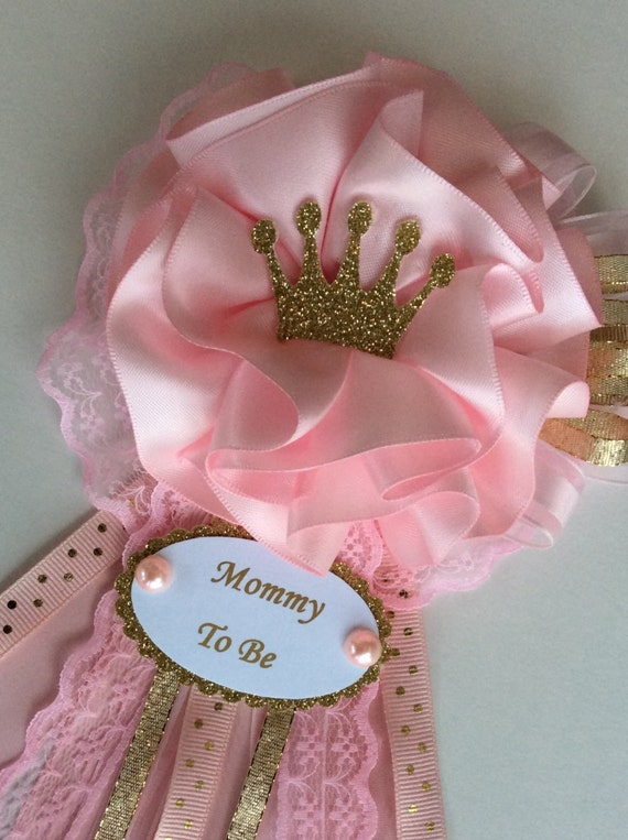 Princess Baby Shower Corsage/Crown Baby Shower Corsage/Pink