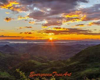 "Sunset, Costa Rica, print, 24"" X 16"""
