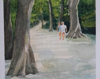 Ascania-Nova Plein-air watercolor landscape painting