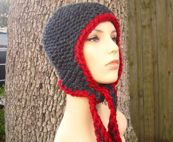 Instant Download Knitting Pattern - Womens Hat Pattern - Knit Hat Pattern for Garter Ear Flap Hat - Womens Hat - Womens Accessories