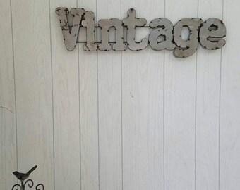 Metal Letters VINTAGE Sign Soldered Metal Letters  Farmhouse / Business
