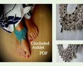 CROCHET PATTERN Crochet anklet- a photo tutorial, ankle bracelet, barefoot jewelry, boho chic, DIY anklet, sell what you make