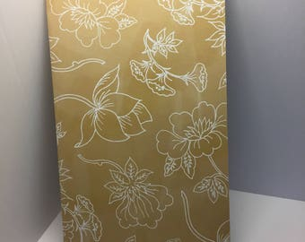 Yellow Flower Notebook - Yellow Floral Journal - Lined or Blank Notebook