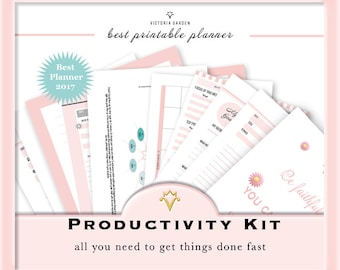 LETTER Size PRODUCTIVITY PLANNER kit: Daily + Weekly + To do List printable inserts, Planner Pages, printable Mom Planner, Organizer+++