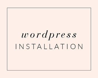 Simple Wordpress Theme Installation Service, Installation for Wordpress Template