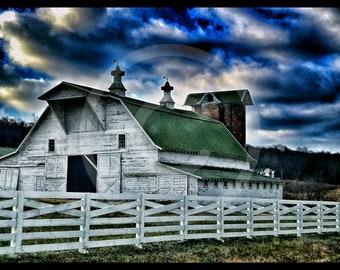 Rustic country barn photo wallpaper digital download