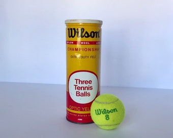 Vintage Wilson tennis balls optic yellow