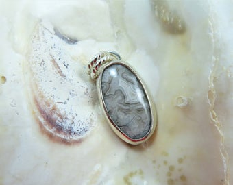 Crazy Lace Agate Sterling Pendant