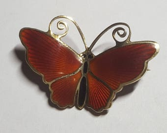 Vintage Sterling David Andersen Butterfly Pin 925s- 1950's