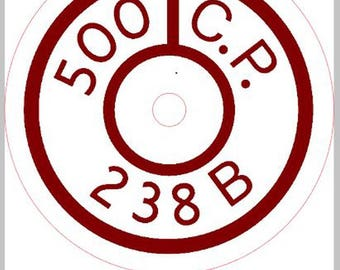 Coleman 238B Direction Disk Decal Sticker