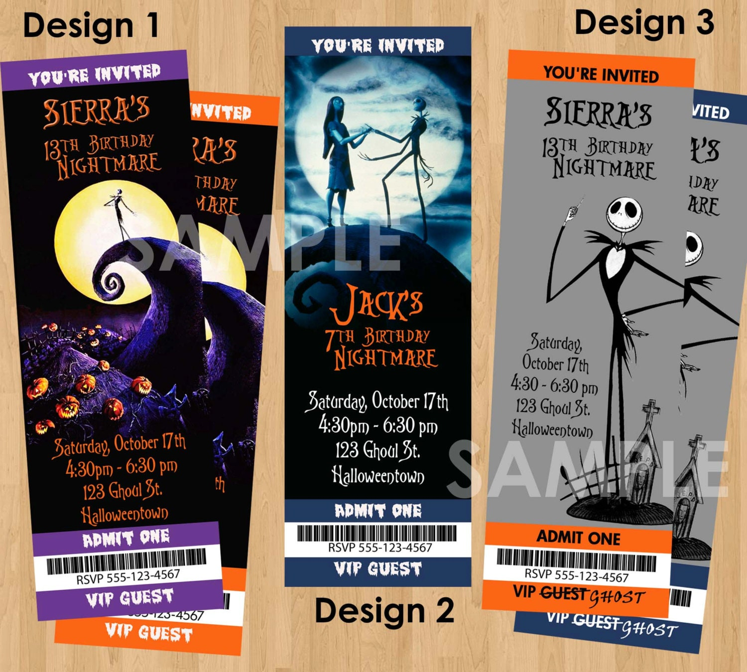 Nightmare Before Christmas Invitation Printable Birthday