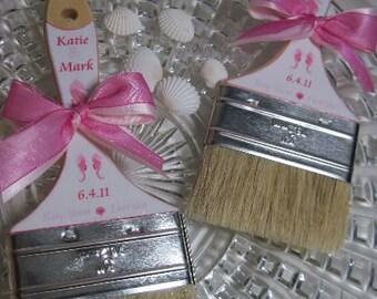 Beach Sand Brush - Sand Paint Brush -  Favor Promotional Item - Wedding Brushes