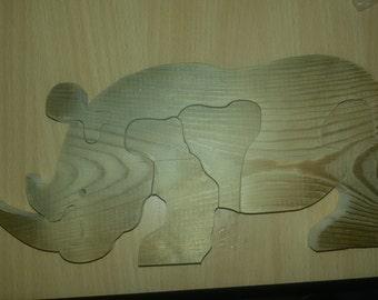 Toys Rhinoceros Puzzle
