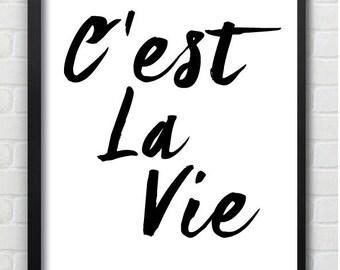 C'est La Vie Scandi Wall Print
