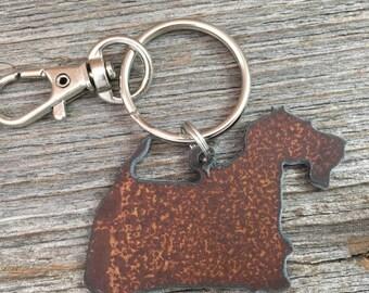 Scottish Terrier Keychain, Scottie Key Chain, Skye Terrier Keyring, Key Ring, Dog Lover Gift, Gifts for Dog Mom Pet Loss Memorial Dog Lovers