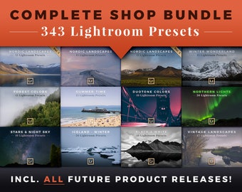 343 Lightroom Presets - Complete Shop Bundle by Presetbase + All New Releases